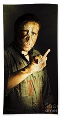 Zombie Death Threat Beach Towel