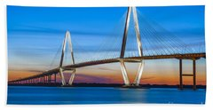 Charleston Arthur Ravenel Bridge Beach Towel