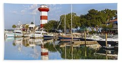 Lighthouse On Hilton Head Island Beach Towel
