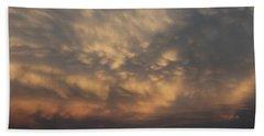 Beach Towel featuring the photograph Nebraska Mammatus Sunset by NebraskaSC