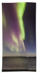 Northern Lights Iceland Beach Towel
