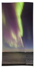 Northern Lights Iceland Beach Sheet by Gunnar Orn Arnason