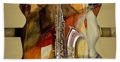 Saxophone Collection Beach Towel