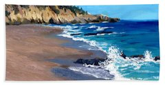 1000 Steps Beach In Laguna Beach California Beach Towel by Alice Leggett