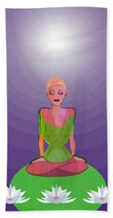 1026 - Lotus Beach Towel