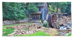 Sixes Mill On Dukes Creek Beach Towel