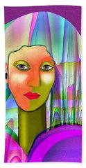 1079 - Mysterious  Lady With A Veil 2017 Beach Towel by Irmgard Schoendorf Welch
