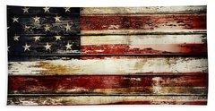 American Flag 33 Beach Sheet
