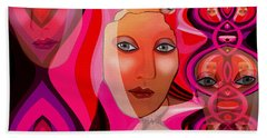 1082 Pink Lady  Fractal Beach Towel