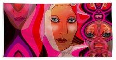1082 Pink Lady  Fractal Beach Sheet