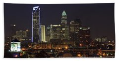 Charlotte Skyline Beach Towel