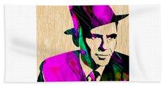 Frank Sinatra Beach Towel by Marvin Blaine