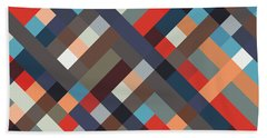 Geometric Beach Towel by Mike Taylor