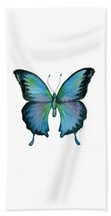 12 Blue Emperor Butterfly Beach Towel