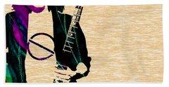 Eddie Van Halen Collection Beach Towel by Marvin Blaine