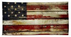 American Flag 54 Beach Sheet