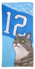 12th Cat #1 Beach Towel