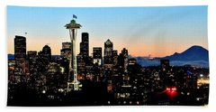 12th Man Sunrise Beach Towel by Benjamin Yeager