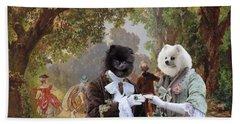 Pomeranian Art Canvas Print Beach Towel