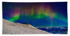 Aurora Borealis Or Northern Lights Beach Towel
