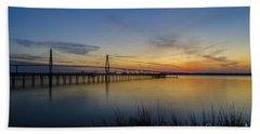Beach Towel featuring the photograph Peacefull Hues Of Orange And Yellow  by Dale Powell