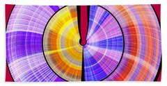 1330 Abstract Thought Beach Towel