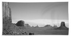 Rock Formations On A Landscape Beach Towel