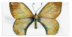 15 Clouded Apollo Butterfly Beach Towel