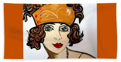 Art Deco  Hilda Beach Towel