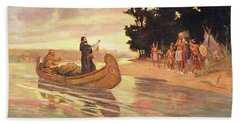 1600s 1600s Father Jacques Marquette Beach Towel