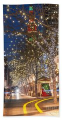 16th Street Mall In Denver Holiday Time Beach Towel
