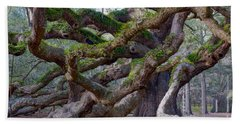 Angel Oak Tree Unique View Beach Towel