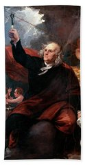 1750s Benjamin Franklin Touching Key Beach Towel