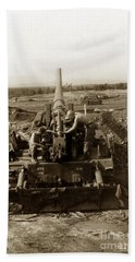 175mm Self Propelled Gun C 10 7-15th Field Artillery Vietnam 1968 Beach Towel