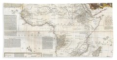 1787 Boulton  Sayer Wall Map Of Africa Beach Towel