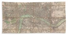1795 Bowles Pocket Map Of London Beach Towel