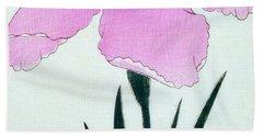 Japanese Flower Beach Towel by Japanese School