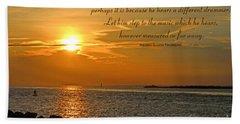 180- Henry David Thoreau Beach Sheet