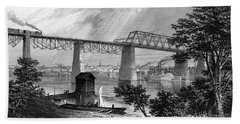 1800s 1870s 1872 View Of Louisville Ky Beach Towel