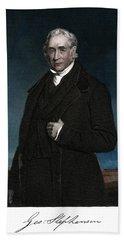 1800s George Stephenson English Civil Beach Towel