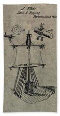 1836 Sailboat Patent Beach Towel