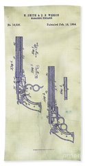 1854 Smith And Wesson Magazine Firearm Patent Art 5 Beach Towel
