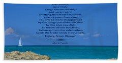 186- Mark Twain Beach Towel