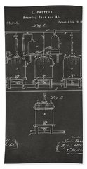 1873 Brewing Beer And Ale Patent Artwork - Gray Beach Towel