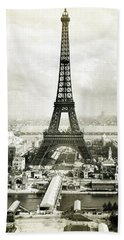 1889 Parisian Panorama Beach Towel by Historic Image