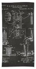 1890 Bottling Machine Patent Artwork Gray Beach Sheet