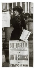 1900s British Suffragette Woman Beach Towel