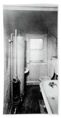 1900s Gas Water Heater In Narrow Beach Towel