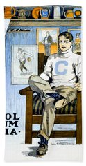 1902 - Columbia University Sports Poster - Color Beach Towel