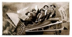 1910 Flight Over Portland Beach Towel by Historic Image